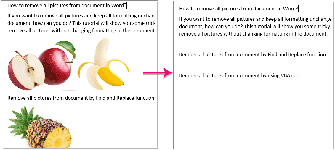 Word Food Png Background Removed - How to remove all pictures from document in Word?