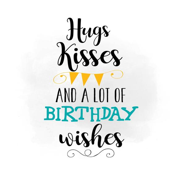 Hugs Kisses Birthday W 176966 Png Images Pngio