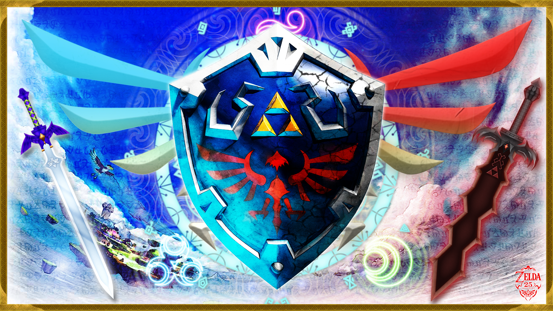 Legend Of Zelda Background Png - Hylian Shield HD Wallpaper | Background Image | 1920x1080 | ID ...
