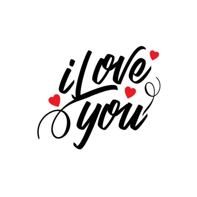 I Love You Png - i love you typographic vector, Concept, Creative, Date PNG and Vector