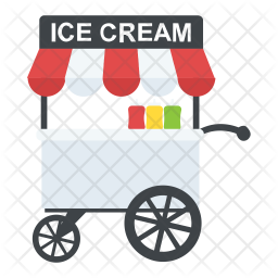 Ice Cream Cart Icon Of Flat Style Avai Png Images Pngio