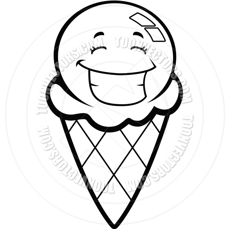 Ice Cream Cone Background 1000*1000 transprent Png Free Download - Black  And White , Line, Angle. - CleanPNG / KissPNG
