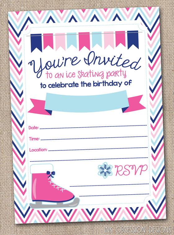 Ice Skating Party Invi 118435 Png Images Pngio