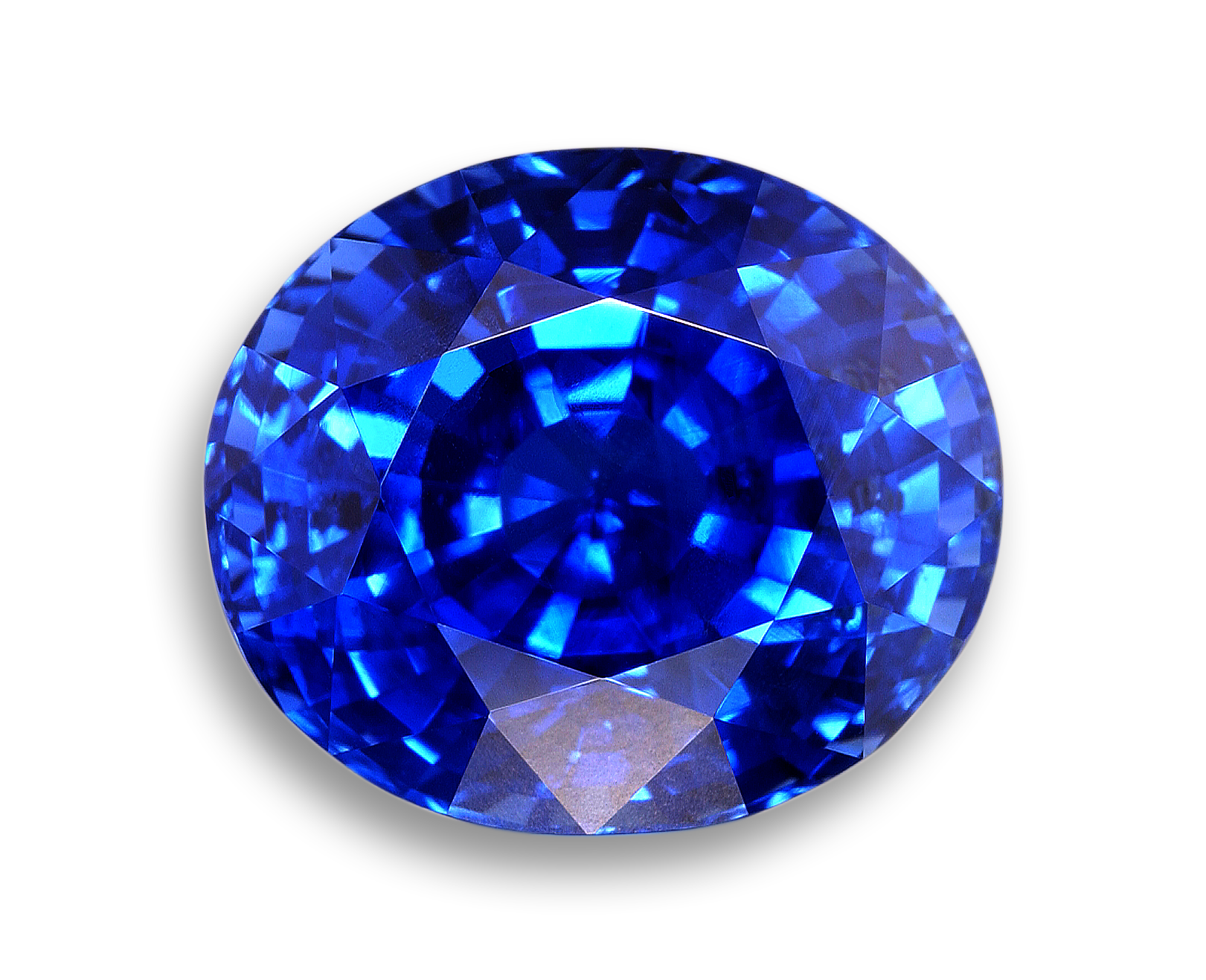 Gemstone Png - Image of Faceted Blue Sapphire