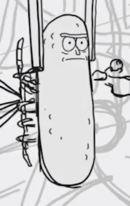 Pickle Png Black And White - Image - Pickle rick.PNG | Rick and Morty Wiki | FANDOM powered by ...