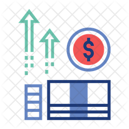 Income Growth Icon Of Colored Outline St Png Images Pngio