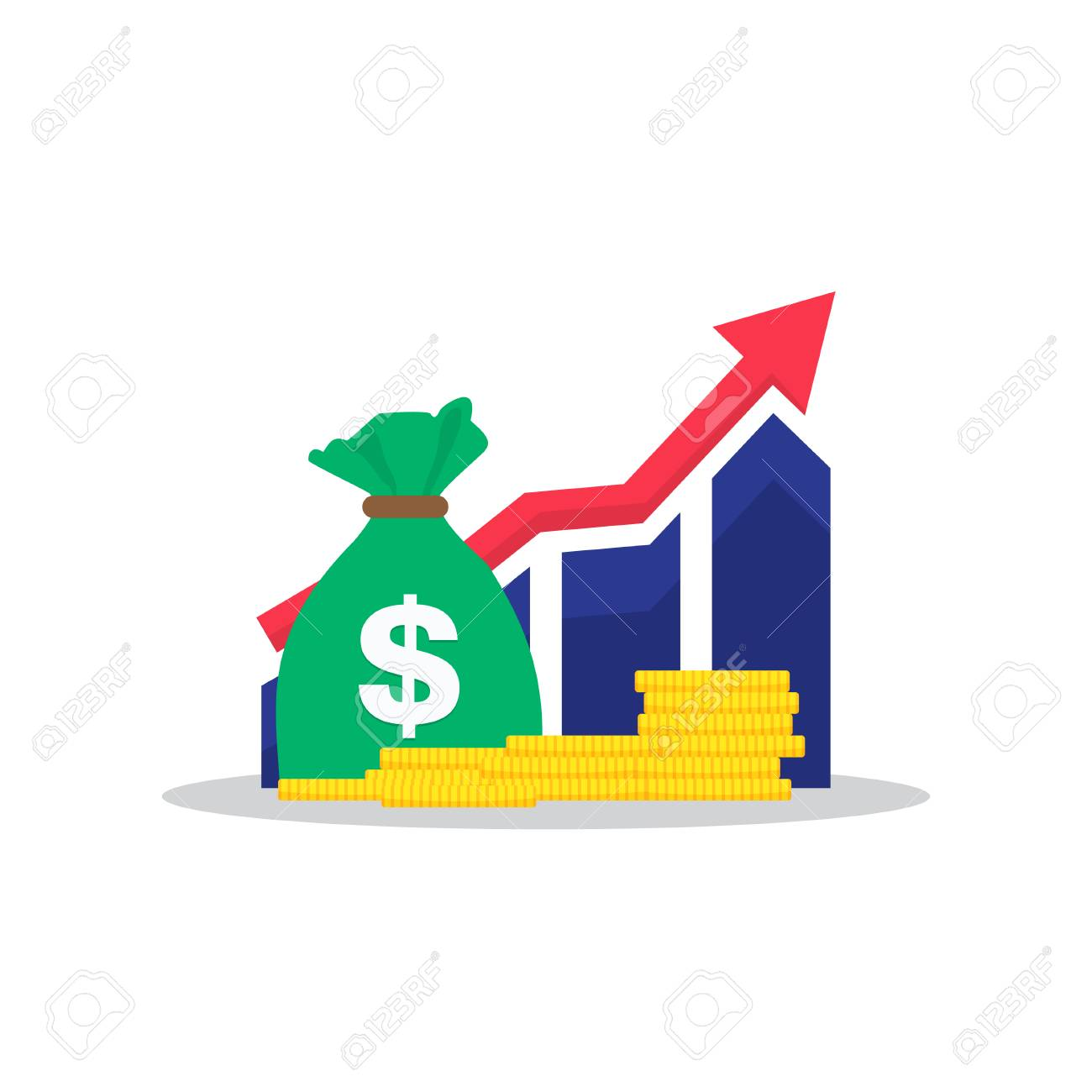 Income Clipart - Income Increase, Financial Strategy, High Return On Investment ...