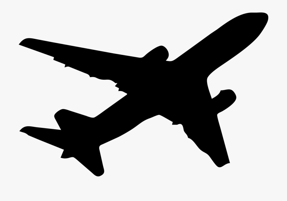 Black Cartoon Airplane Png Free Black Cartoon Airplane Png