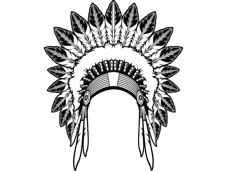 Indian Head Dress Png - Indian Headdress 5 Native American Head Dress Tribe Chief | PNGio