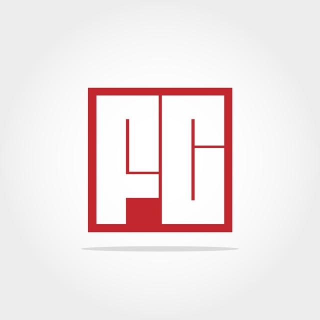 Initial Letters Png - Initial Letter FC Logo Template Design Template for Free Download ...