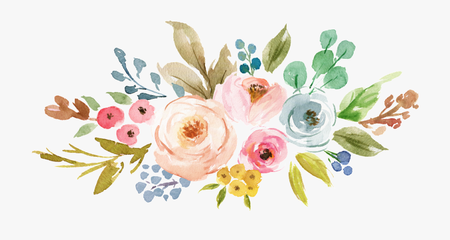 Png Watercolor Flowers - Ink Colorful Transparent Hand Painted Flowers Png - Transparent ...