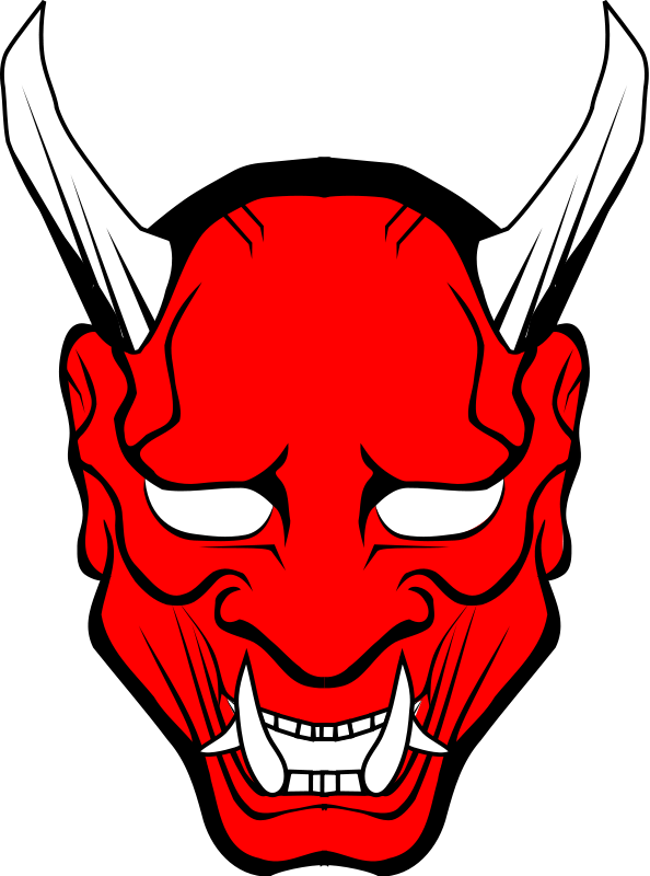 Oni Demon Png - Japanese Demon Transparent & PNG Clipart Free Download - YAWD
