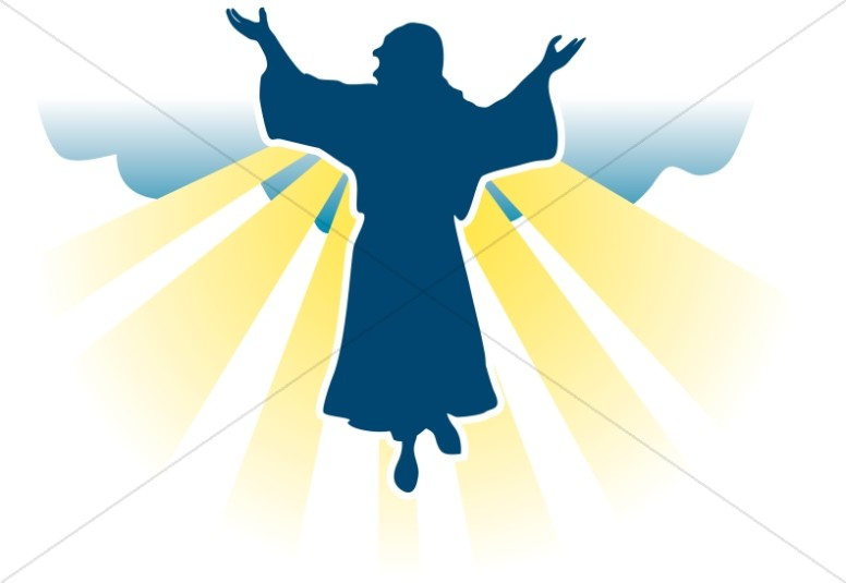 Jesus Christ Ascension Day Png Black White - Jesus Ascension Clipart | Free download best Jesus Ascension ...