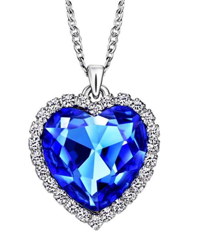 Heart Of The Ocean Png - Jewelry Charm Ocean Titanic Heart Blue Pendants Necklace Clear ...