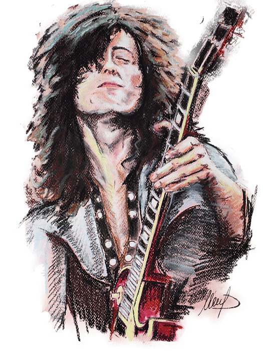Jimmy Page Png - Jimmy Page T-Shirt for Sale by Melanie D
