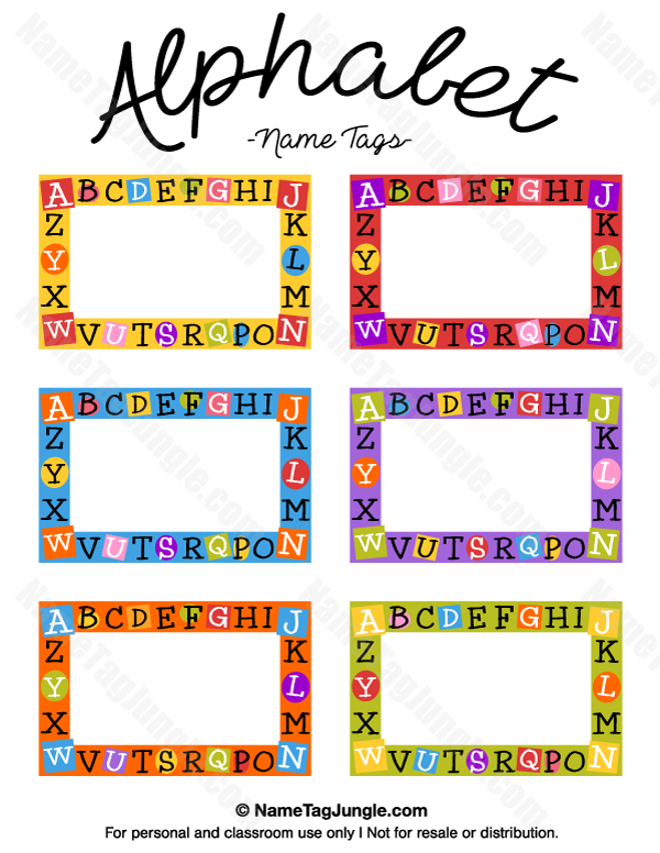 It's just a graphic of Printable Name Tags for Cubbies for notebook application
