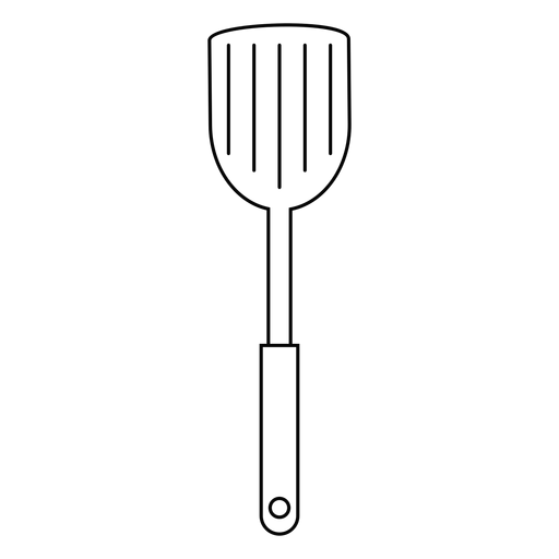 Spatula Icon Png - Kitchen spatula stroke icon - Transparent PNG & SVG vector file