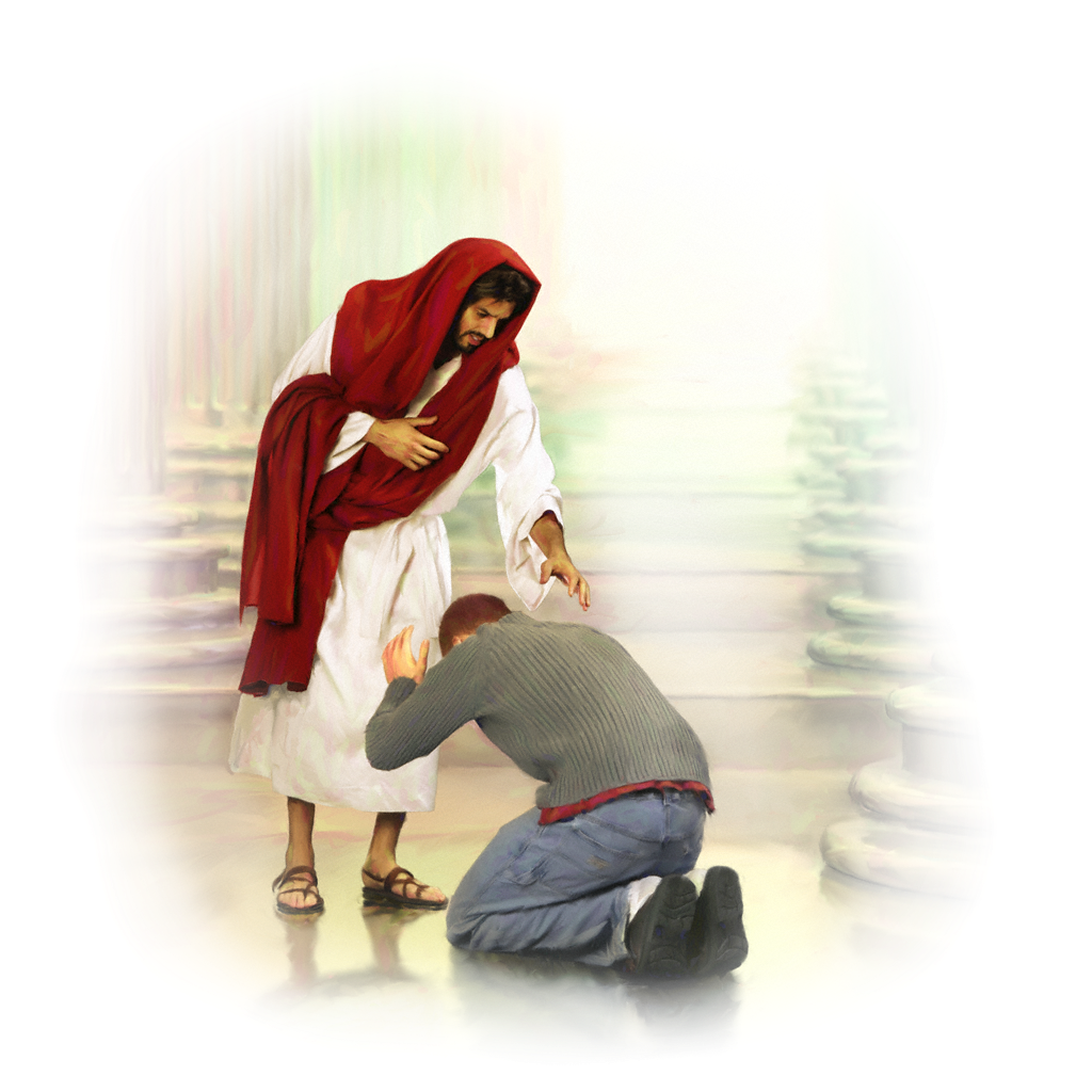 photo regarding Twas the Night Before Jesus Came Printable called Male Kneeling Right before Jesus Png Free of charge Person Kneeling Right before