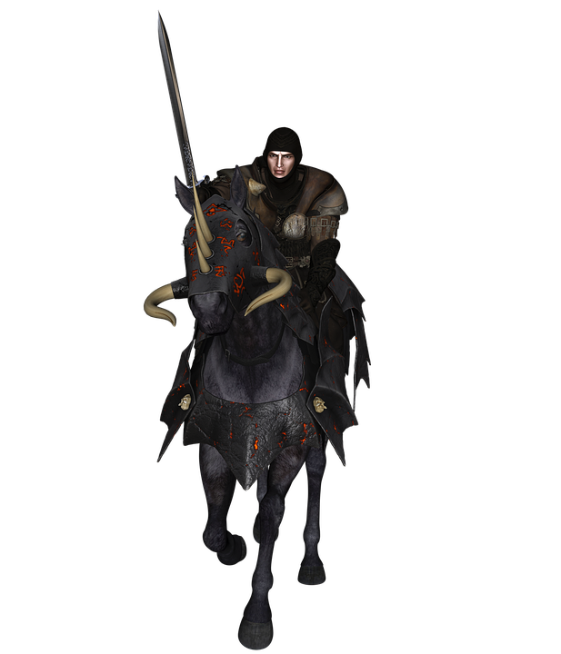 Man On A Horse Png - Knight On Horse Png Black And White & Free Knight On Horse Black ...