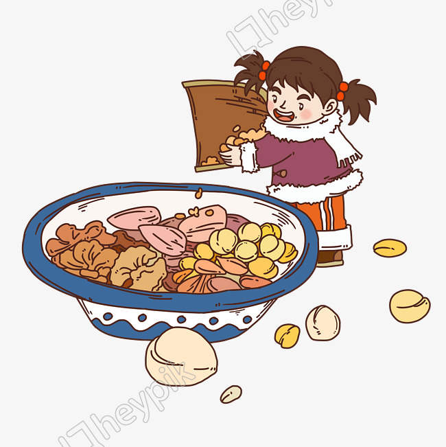 Little Girl Cooking Png - Laba Festival Character Little Girl Cooking Porridge image - PNG ...