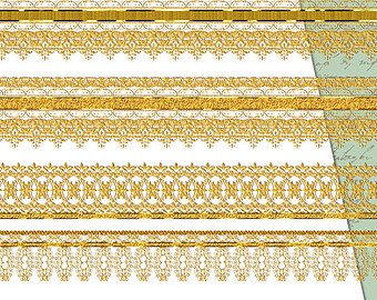 Gold Lace Ribbon Png - lace glitter png - Clip Art Library