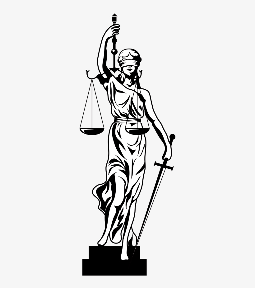 Lady Of Justice Drawing At Getdrawings -  1713911