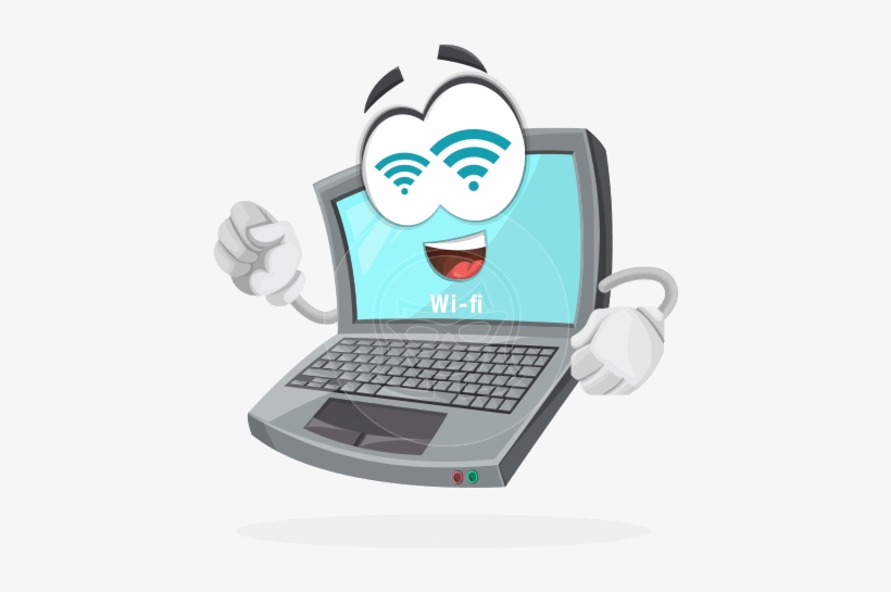 Cartoon Laptop Png - Laptop Computer Vector Character By Graphicmama Laptop - Laptop ...