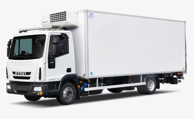 Tail Lift Png - Large Box Truck Cooler With Tail-lift - Cargo Trucks Png ...