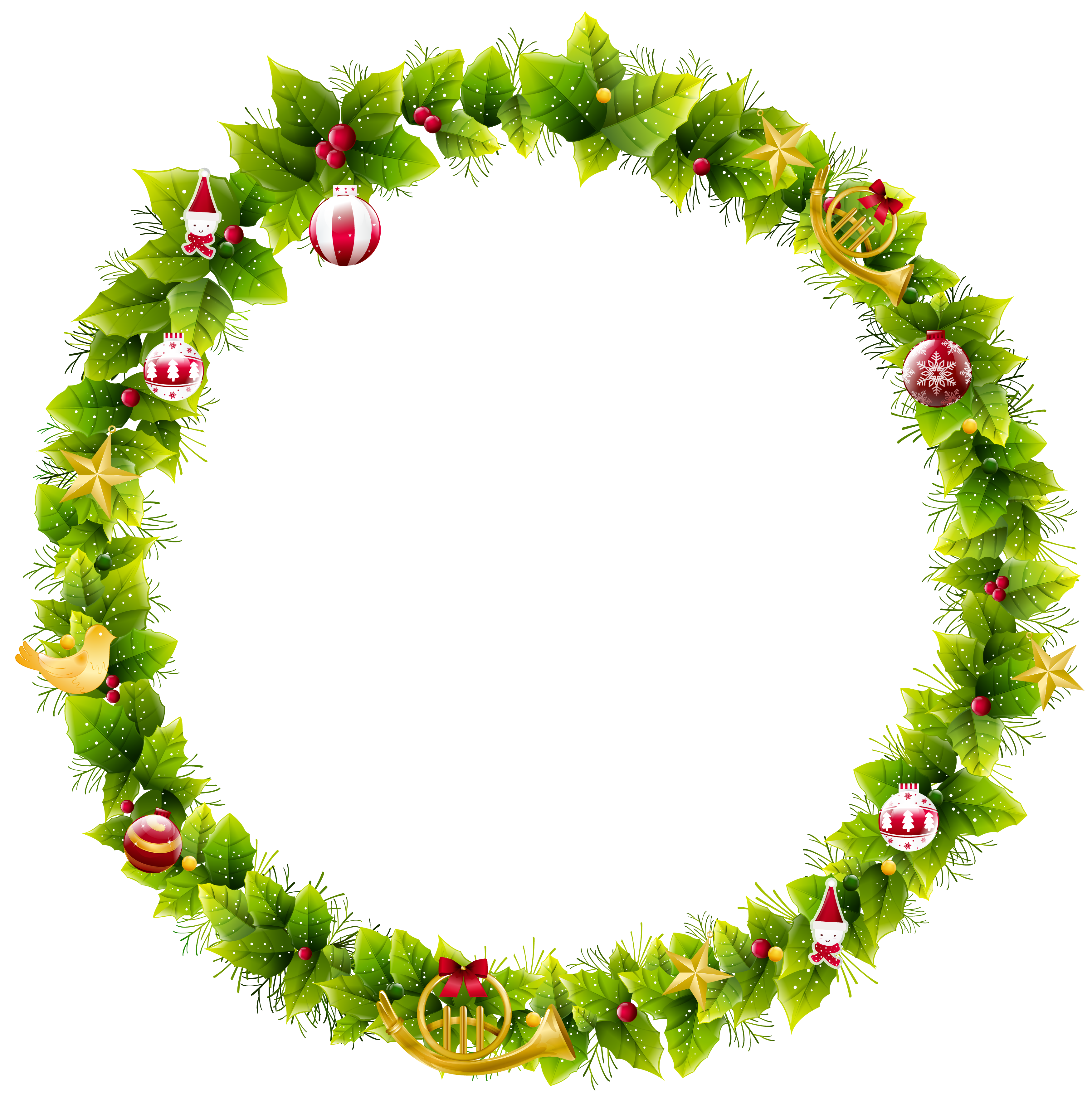 Wreath Border Png Free Free Wreath Border Png Transparent Images