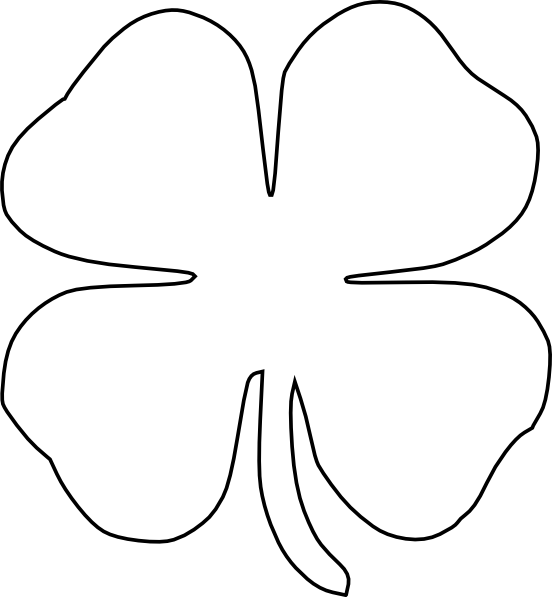 This is an image of Shamrock Template Printable Free within face