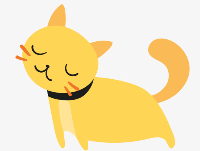 Lazy Cat Cat Clipart Yellow Cartoon P 89488 Png Images Pngio