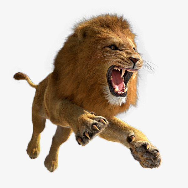 Lion Png - leaping lion