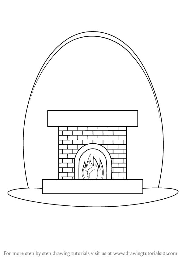 Fireplace Drawing Png - Learn How to Draw a Fireplace (Everyday Objects) Step by Step ...
