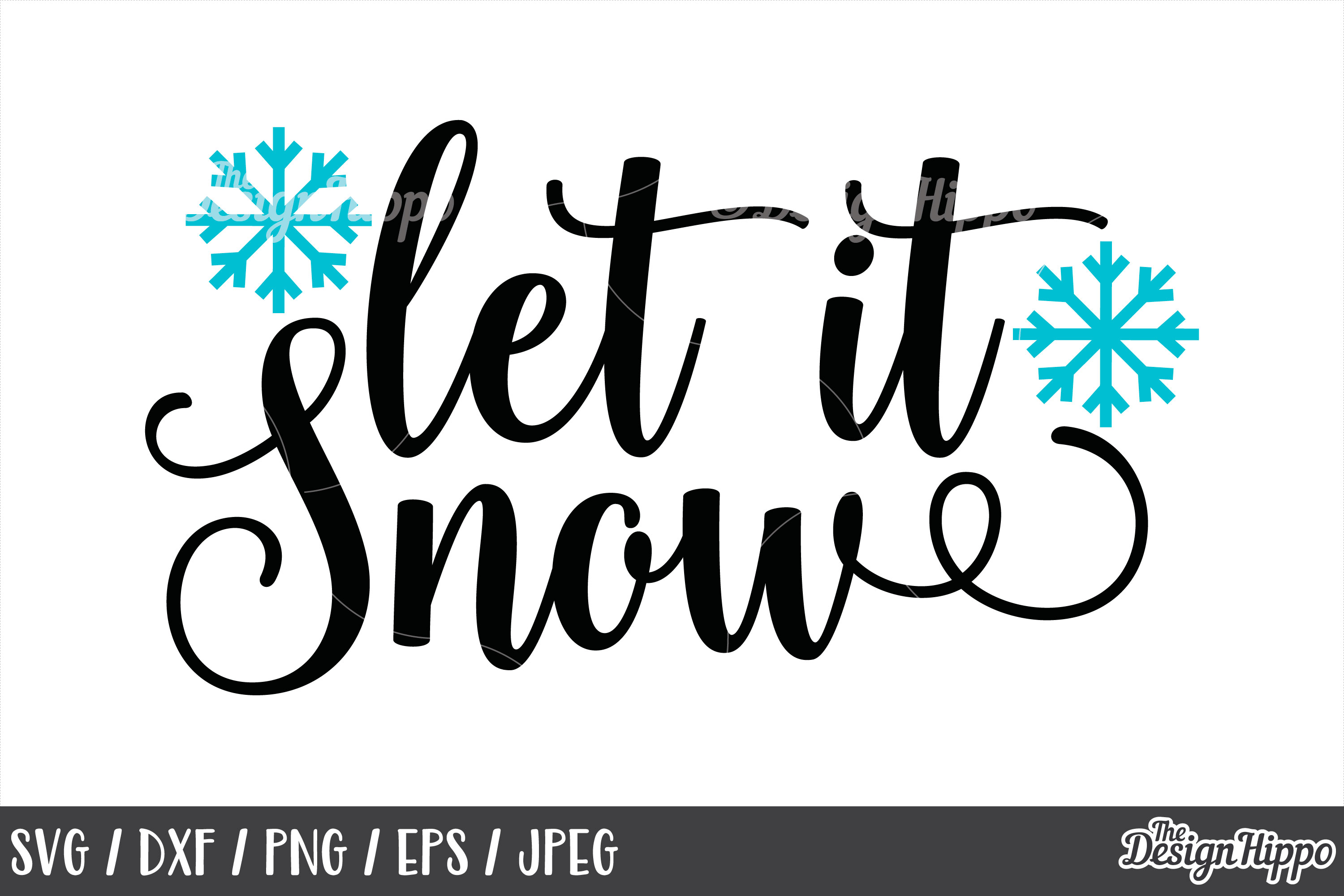 Let It Snow Christmas Svg Snowflake 1836378 Png Images Pngio