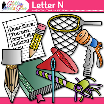 Letter N Phonics Png - Letter N Alphabet Clip Art: Phonics and Letter Recognition ...