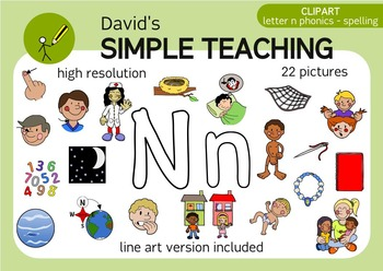 Letter N Phonics Png - Letter N phonics - spelling clipart with free preview | TpT