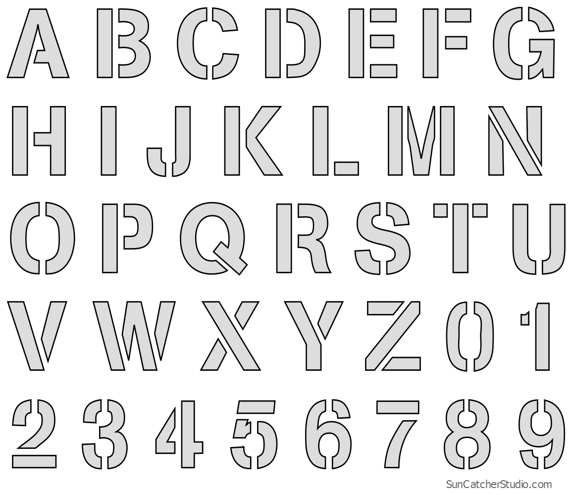 This is a graphic of Alphabet Stencil Printable throughout a to z
