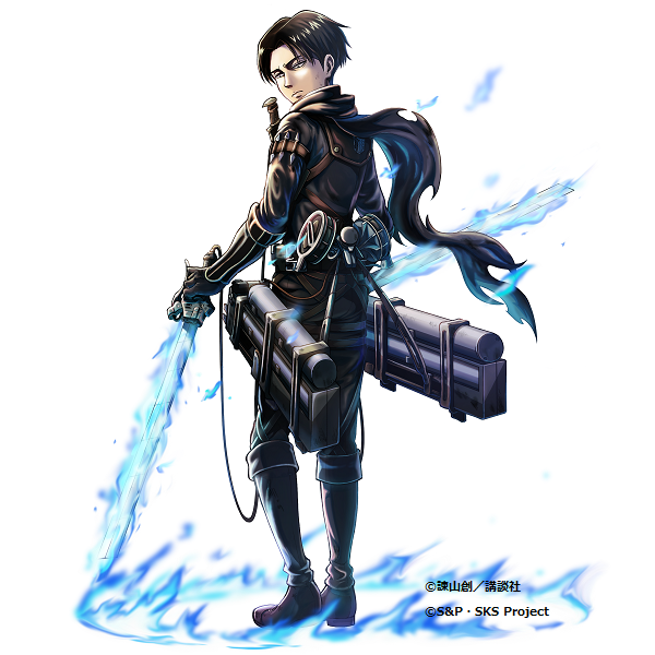 Levi Ackerman Full Body Clear Background Doraemon