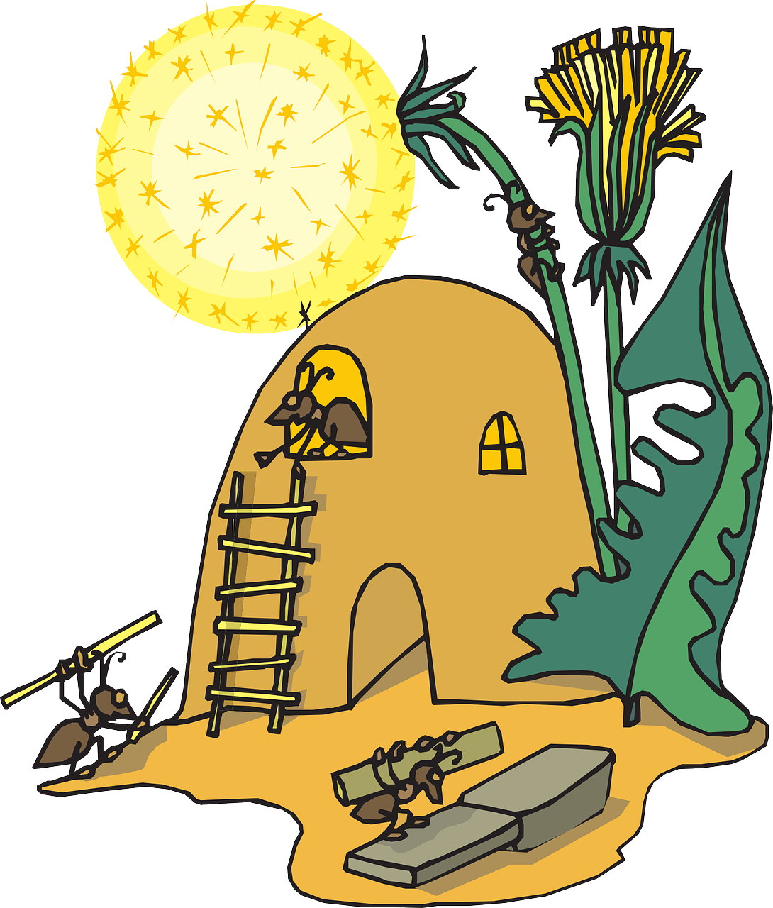 Cartoon Ant Hill Png - Library of ant pile graphic transparent download png files ...