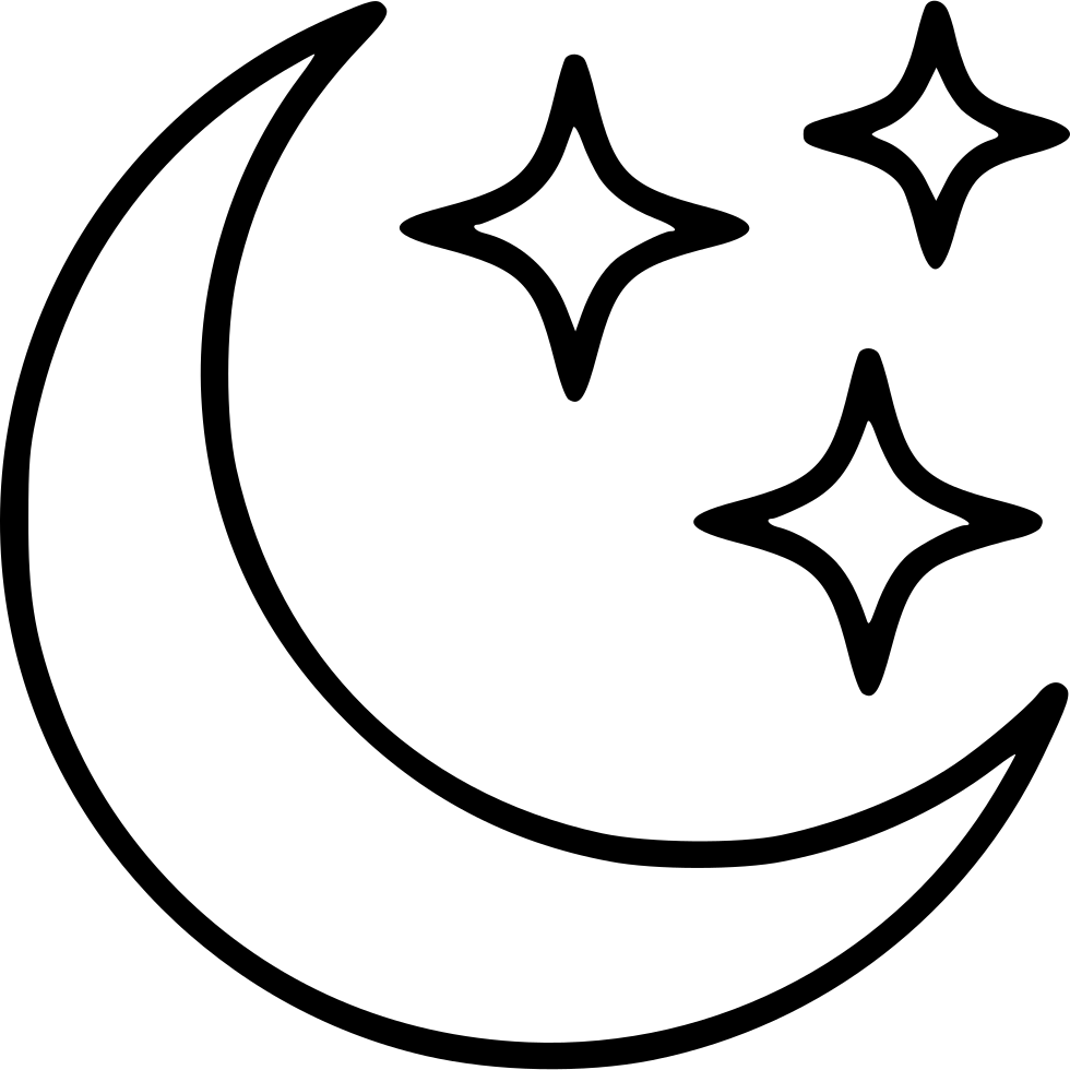 Moon And Stars Book Png - Library of free black and white clip art transparent library book ...