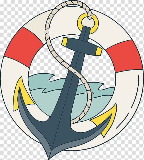 Lifebuoy With Anchor Png - Lifebuoy and anchor , T-shirt Spiritual Tattoos Anchor Old school ...
