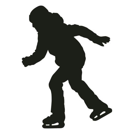 Boy Ice Skaters Png - Little boy ice skating silhouette - Transparent PNG & SVG vector