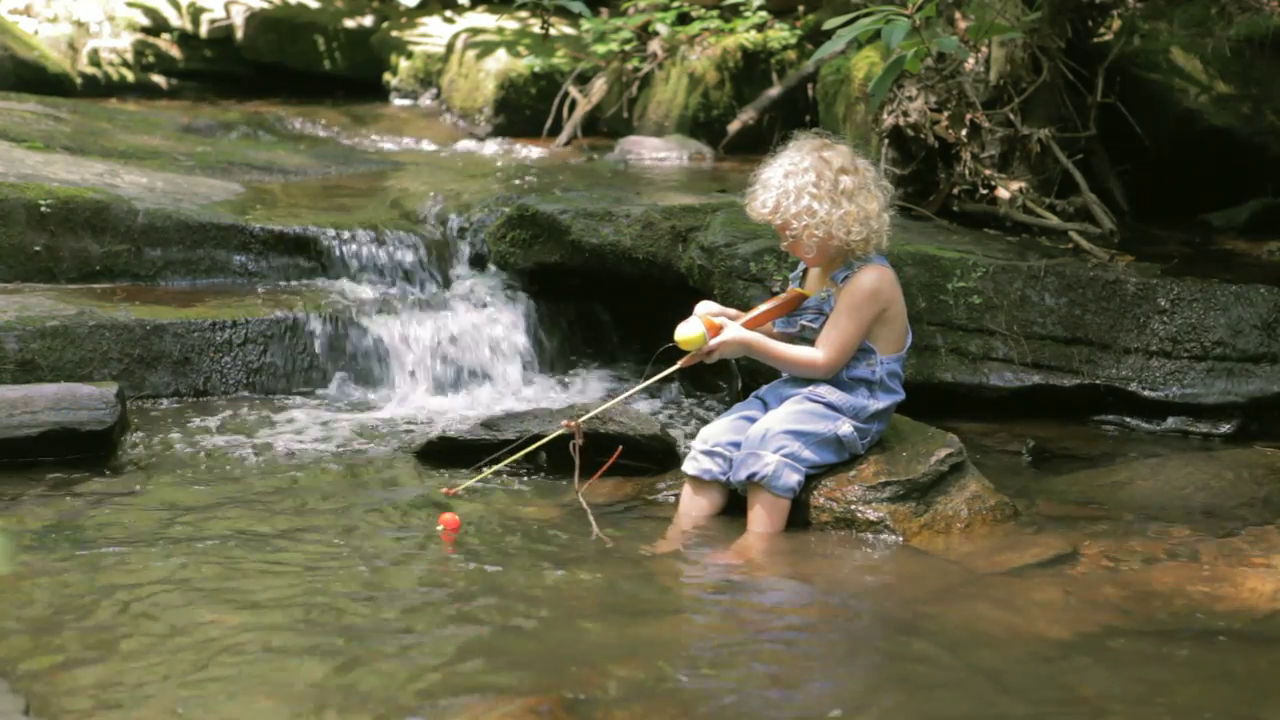 Little Boy Fishing Png - Little Boy In Over Alls Going Fishing In Creek Stock Video Footage ...