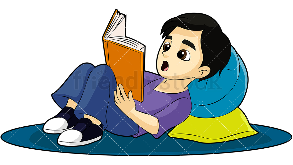 Download Free Png Little Boy Reading A Book Cartoon Vector