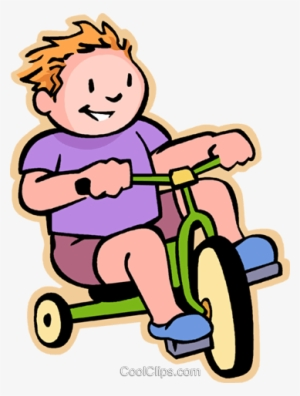 Boy Riding A Tricycle Png - Little Boy Riding A Tricycle - Kid On Tricycle Clipart Transparent ...