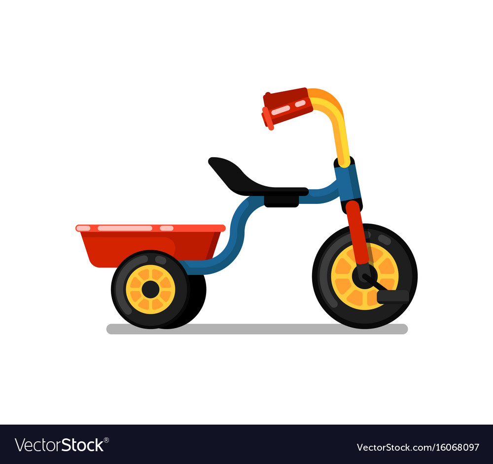 Tricycle Vector Png - Little children tricycle isolated icon Royalty Free Vector