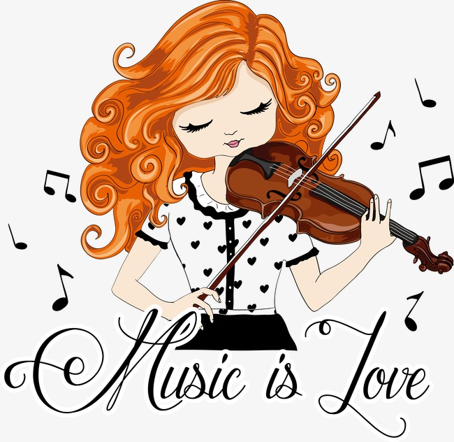 Cool Girl Violin Png - Little Girl Playing The Violin, Little Girl, Music, Play The ...