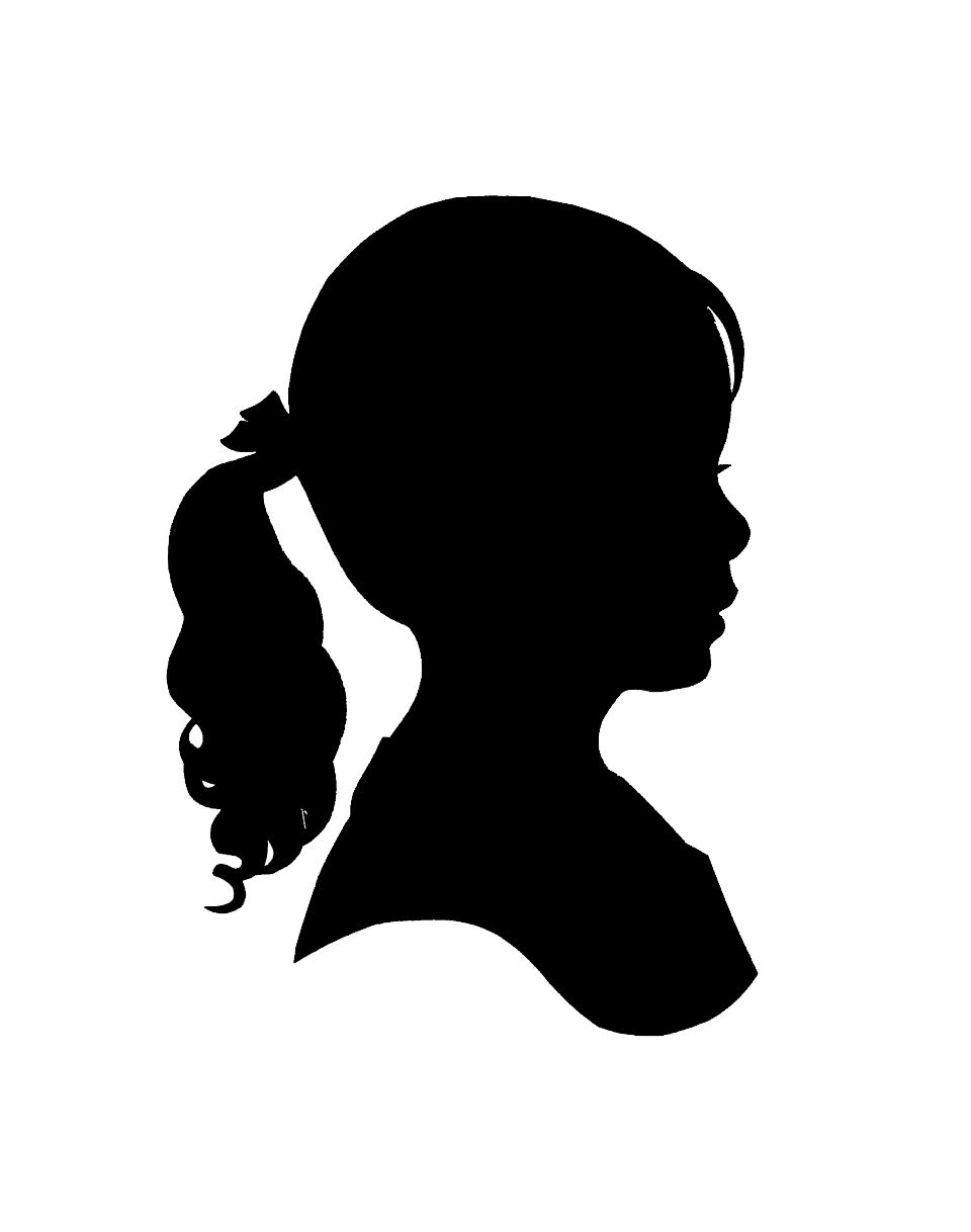 Girl Silhouette - Little Girl Silhouette Clip Art Free   Art From the Ashes ...
