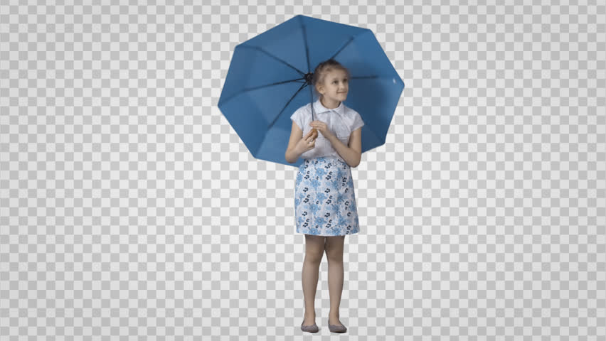Little Girl Playing In Rain Png - Little Girl With Umbrella Png & Free Little Girl With Umbrella.png ...