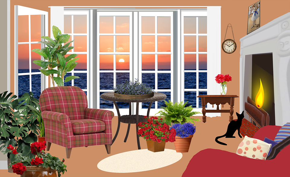 Living Room With Fireplace Png - Living room png 3 » PNG Image